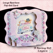 Large Aperture Pop-Out Card - Wedding