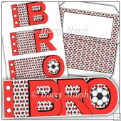 Bro Red Football Word Book Card Set