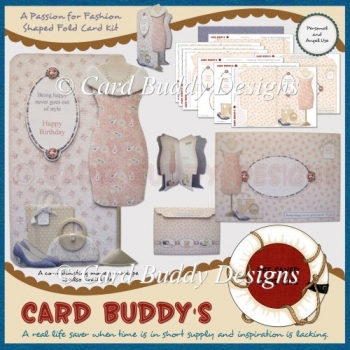 A Passion for Fashion Shaped Fold Card Kit