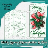 Holly Spray Moneyholder & Envelope