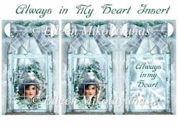 Always in My Heart Window Collage Insert