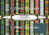Tartan Fabrics - Set One - Ten A4 Papers
