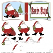 Santa Stop! Christmas Open Book Page