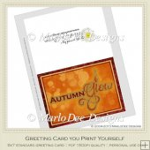 Autumn Glow Fall Season Instant Greeting Card