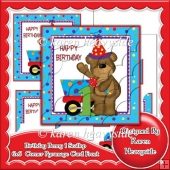 Birthday Benny 1 Scallop Corner Pyramage 6x6 Card Front