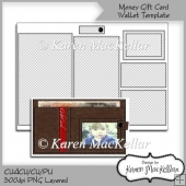 CU4CU Money Wallet Gift Card Template A4 300dpi Printable