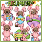 Funny Bunny Bears Commercial Use Clip Art