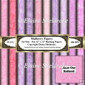 Shades Of Pink Mulberry Paper - Set One - Ten 12 x 12 Printables
