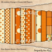 Oh yummy Orange n Cream 8x8 Papers