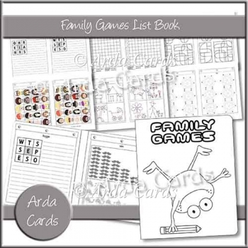 Family Games List Book