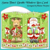 Santa Time Double Window Box Card