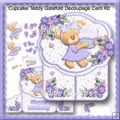 Cupcake Teddy Gatefold Decoupage Card Kit