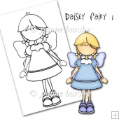 Daisey Fairy Girl Digital Stamp.