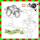 Ornament 8 and sentiment Digi stamp