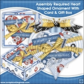 Assembly Required 3D Heart Shaped Ornament With Card & Box