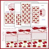 Red Poppy Flip Lid Gift Boxes