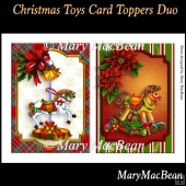 Christmas Toys Card Toppers Duo