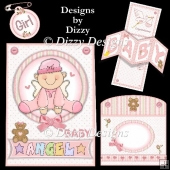 Baby Girl Twisted Panel Pop Out Card