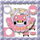 Driving Test Pass Shaped Over The Top Card
