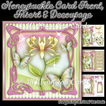 Honeysuckle Card Front & Insert