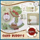 Strawberry Sue Shaped Fold Card Kit