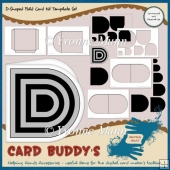 D-Shaped Fold Card Kit Template Set
