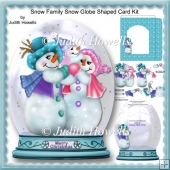 Snow Family Snow Globe Shaped Card Kit