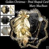 Golden Christmas - Petal Shaped Card