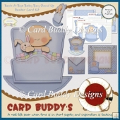 Rock-A-Bye Baby Boy Stand Up Rocker Card Kit