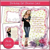 Birthday Girl Bracket Card