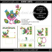 Easter Chicken Card Set