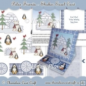 Polar Friends Shaker Easel Card