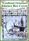 Woodland Christmas Kleenex Tissue Box Cover with Directions