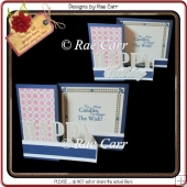 955 Happy Z Fold Card Multiple MACHINE Formats