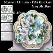 Mountain Christmas Petal Easel Card