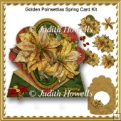 Golden Poinsettias Spring Card Kit