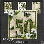 Vintage 50th Birthday Topper Card Kit 1188