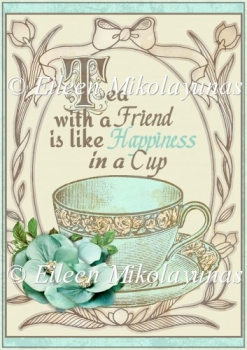 Tea with a Friend Card Front