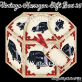 Vintage Car Hexagon Gift Box 25