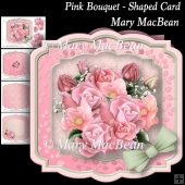 Pink Bouquet - Shaped Card