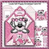 Loula Girl Puppy Envelope Card Kit