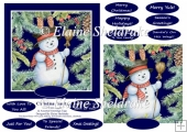Christmas Snowman 6 X 6 Card Topper & Assorted Greetings