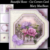 Beautiful Roses - Cut Corners Card