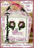 Christmas Door Large Handled Gift Box