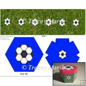 Blue Football Hexagonal Box