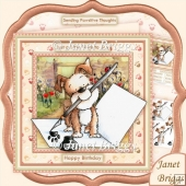 Pawsitive Thoughts All Occasions Decoupage Kit