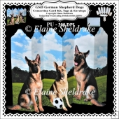 GSD German Shepherd Dogs Concertina Card Kit Tags Envelope Decou