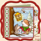 Christmas Foxy Fa La La 7.5 Decoupage Kit