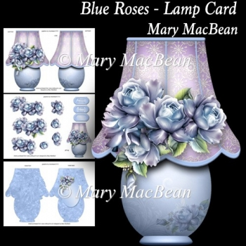 Blue Roses - Lamp Card
