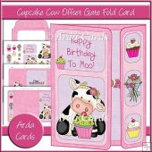 Cupcake Cow Offset Gate Fold Card